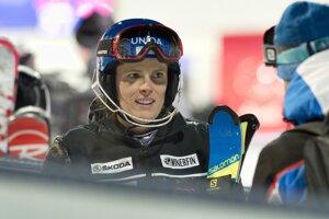 Veronika Velez-Zuzulová v cieli 1. kola.