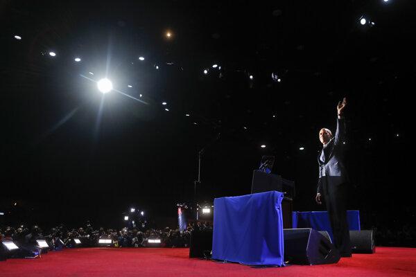 Obama predniesol svoj prejav pred vyše dvadsaťtisícovým publikom.