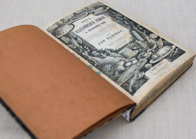 Titulná strana Prvej kuchárskej knihy v slovenskej reči. Knihu nám láskavo poskytlo Múzeum Ľudovíta Štúra v Modre, ktoré je pobočkou Slovenského národného múzea.