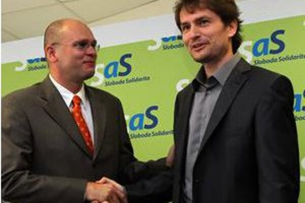 Richard Sulík a Igor Matovič už pre seba úsmevy nemajú.