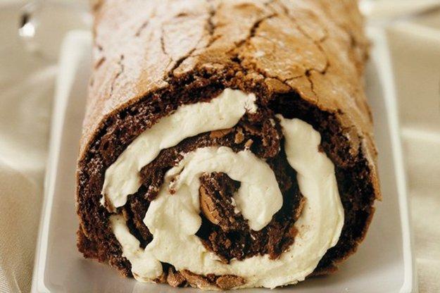 Kakaová roláda s tvarohom