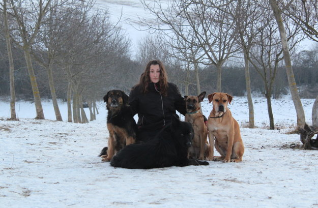 Michaela Murková so svojimi psami