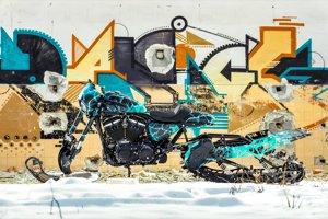 Harley-Davidson Snow Drag.