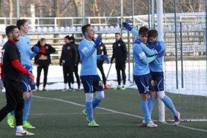 Dva góly Nitry strelil Andrej Ivančík (na snímke úplne vpravo).
