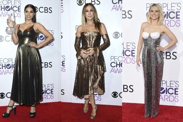 Zľava: Lilly Singh, Sarah Jessica Parker, Kristen Bell