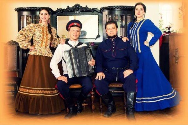 Skupina Donského kozáckeho chóru Volnij Don.