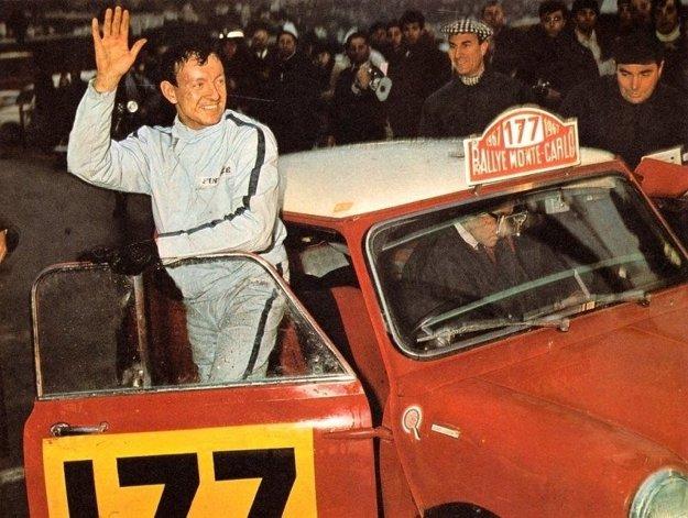 Rauno Aaltonen v cieli pretekov Rely Monte Carlo 1967