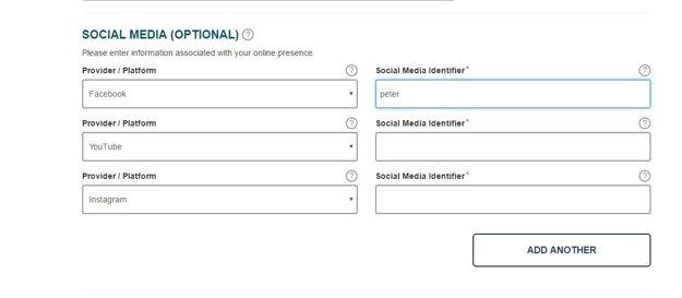 Systém ESTA sa od decembra na sociálne siete pýta aj Slovákov.
