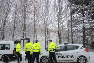 Mestskí policajti dnes plašili diviaky pri najväčšom trenčianskom sídlisku Juh.