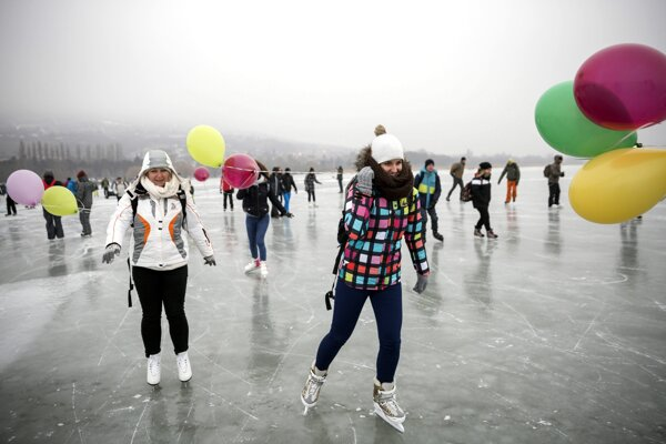 Zamrznutý Balaton.