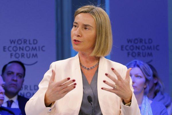 Šéfka EÚ pre zahraničnú politiku Federica Mogheriniová.