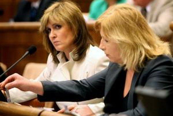 Tatiana Rosová a Iveta Radičová už včera o hlasovaní žartovali.