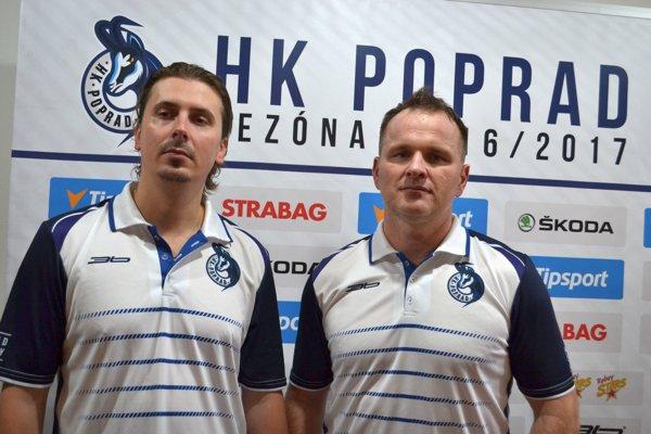 Nový tréner HK Poprad František Štolc (vľavo).