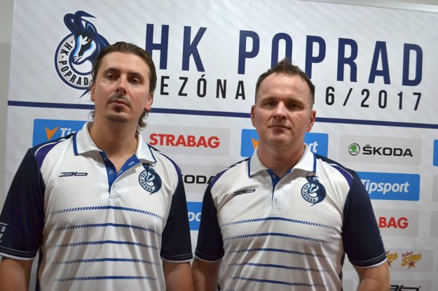 Tréneri František Štolc a Marcel Ozimák.