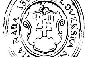 Pečať Slovenskej národnej rady, v ktorej v roku 1848 pôsobili Hurban, Hodža, Štúr.