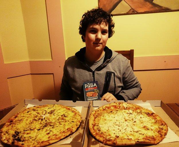 Tretie miesto obsadil Štefan Gorás,získal poukážku na pizzu.