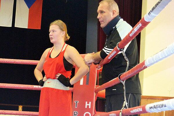 Jessica Triebeľová s otcom Petrom, ktorý je jej trénerom.