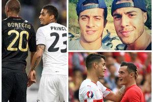Vo futbalovom svete je hneď niekoľko prípadov bratov, ktorí reprezentujú rozdielne krajiny. Vľavo bratia Jerome a Kevin-Prince Boatengovci, hore vpravo bratia Thiago a Rafinha Alcantarovci a dole vpravo Granit a Taulant Xhaka.