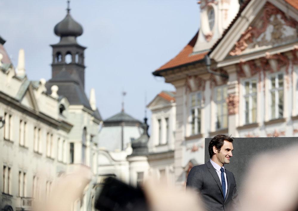 Roger Federer v Prahe.