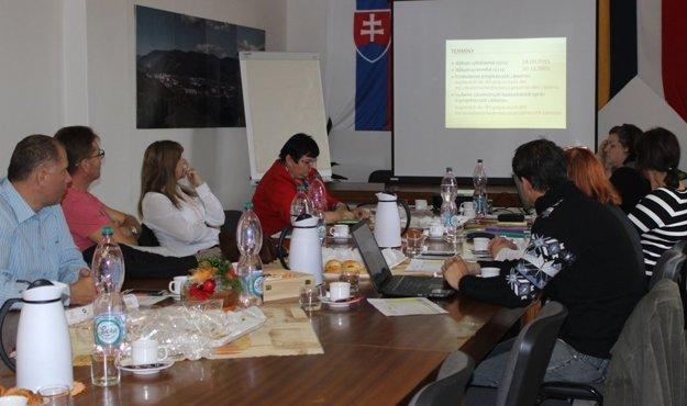 Zasadnutie pracovnej skupiny v Hnúšti.