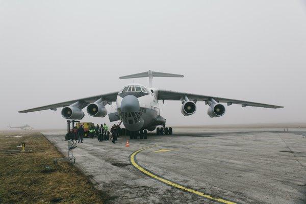 Nákladné lietadlo Iľjušin Il-76 bieloruskej spoločnosti Ruby Star, ktoré priviezlo vrtuľník Mi-17 z Afganistanu na generálnu opravu v Trenčíne.