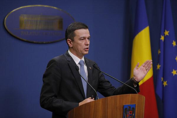 Odvolaný rumunský premiér Sorin Grindean.
