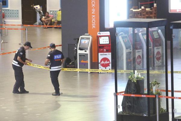 Miesto útoku na letisku v Kuala Lumpur.