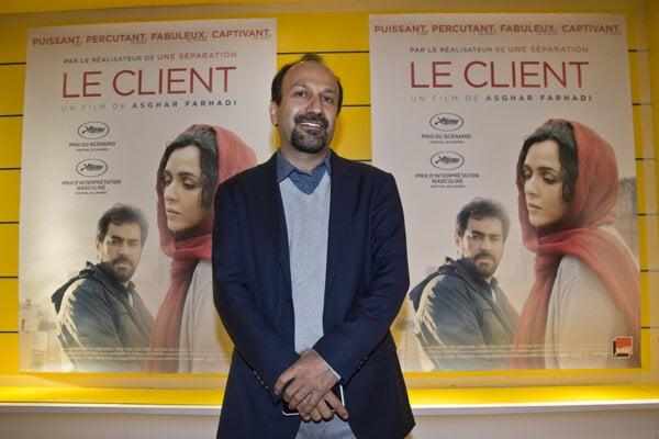 Iránsky režisér Ašghar Farhádí.