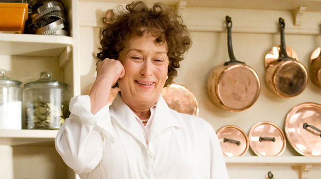 Meryl Streepová vo filme Julia a Julia, kde si zahrala veľkú milovníčku jedál, ktoré sa snažila aj sama pripraviť.