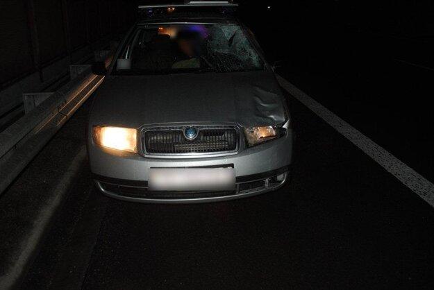 Auto po nehode.