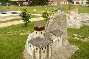 Park miniatúr v Podolí.
