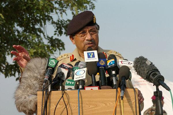 Bývalý pakistanský prezident Parvíz Mušarraf.