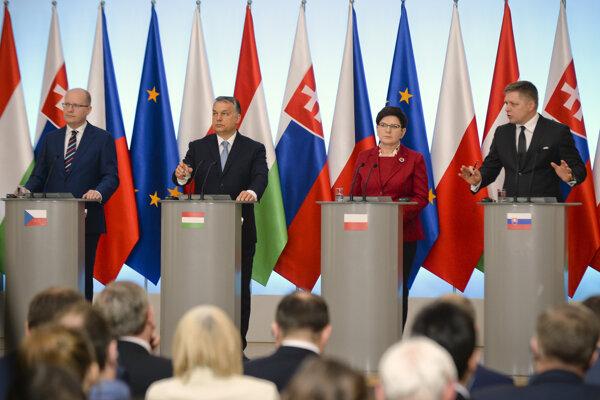 Stretnutie V4 v Poľsku.