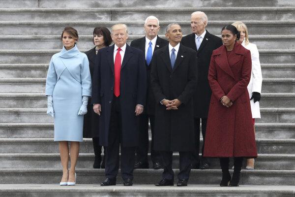 Súčasný a bývalý prezident na Trumpovej inaugurácii.