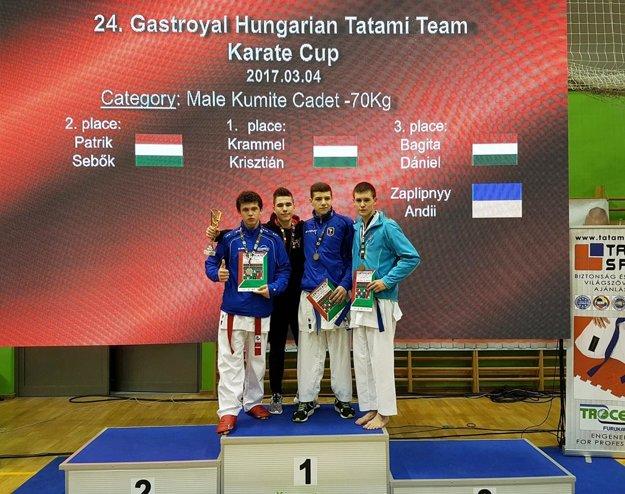 Patrik Šebök skončil druhý na Tatami Cupe v Budapešti.