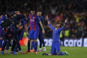 Neymar (vpravo) bol hrdinom Barcelony.