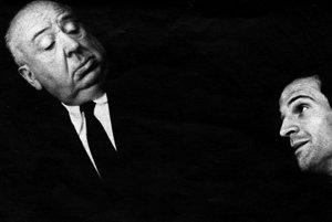 Dvaja filmoví velikáni: Alfred Hitchcock a Francois Truffaut.
