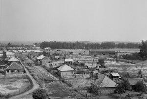 Pohľad na povodňou najviac postihnutý Číčov.