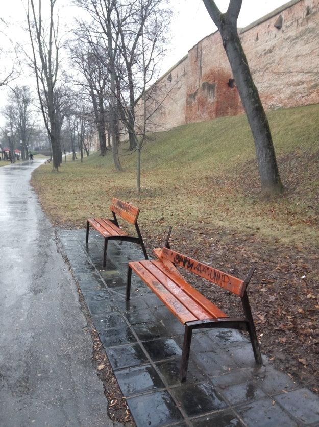 Z asi dvadsiatky lavičiek nemá operadlo takmer polovica.
