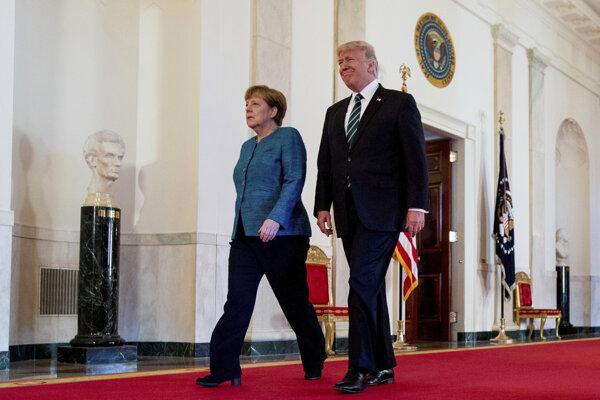 Americký prezident Donald Trump a nemecká kancelárka Angela Merkelová.