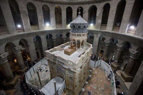 Edikula v Bazilike Božieho hrobu.