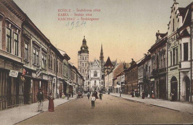 Šrobárova, dnes Alžbetina ulica.