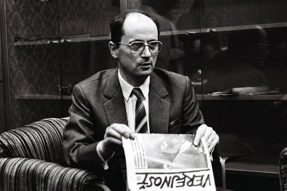 Ján Čarnogurský v roku 1989.