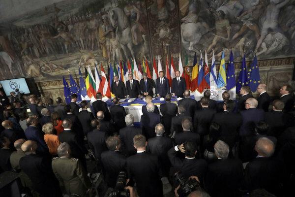 Podpísanie deklarácie ohlásili európski lídri na tlačovej konferencii.