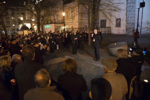 Spomienka na sviečkovú manifestáciu, 24. marca 2017 v Bratislave.