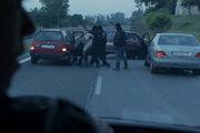 Únos prezidentovho syna vo filme Únos, scéna sa natáčala na cesta č. II/502 na mieste, kde aj v skutočnosti SIS uniesla Michala Kováča ml. Vpravo vidieť Pustý kostolík.