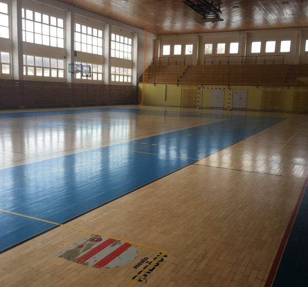 V športovej hale školy.