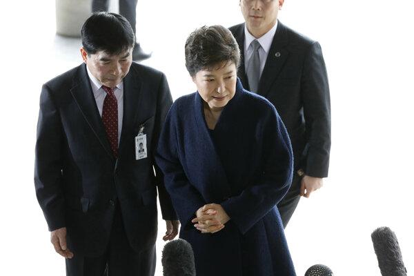 Zosadená juhokórejská prezidentka Pak Kun-hje.