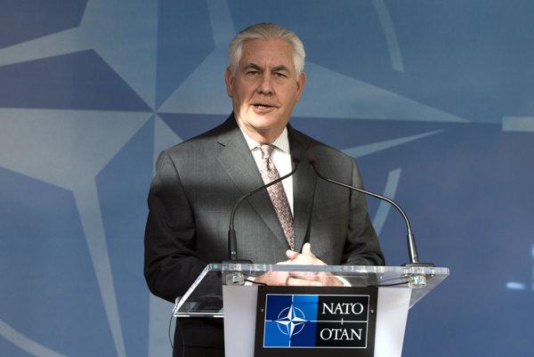 Americký minister zahraničných vecí Rex Tillerson .