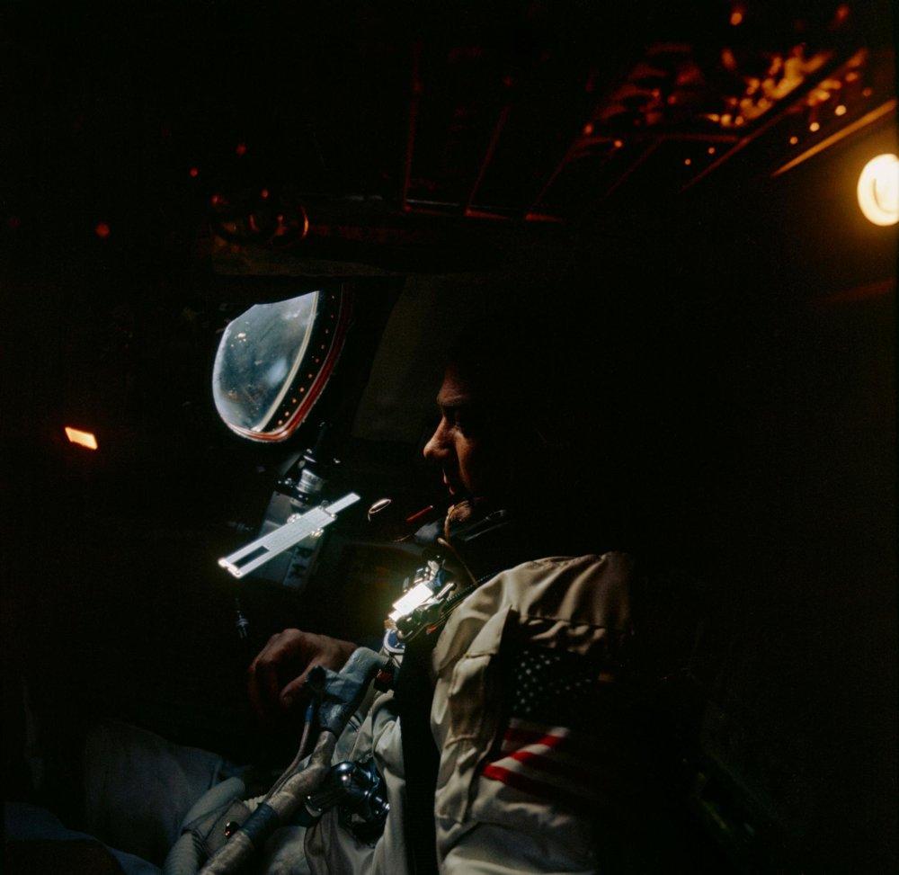 Edwin Aldrin na palube letu Gemini-12.